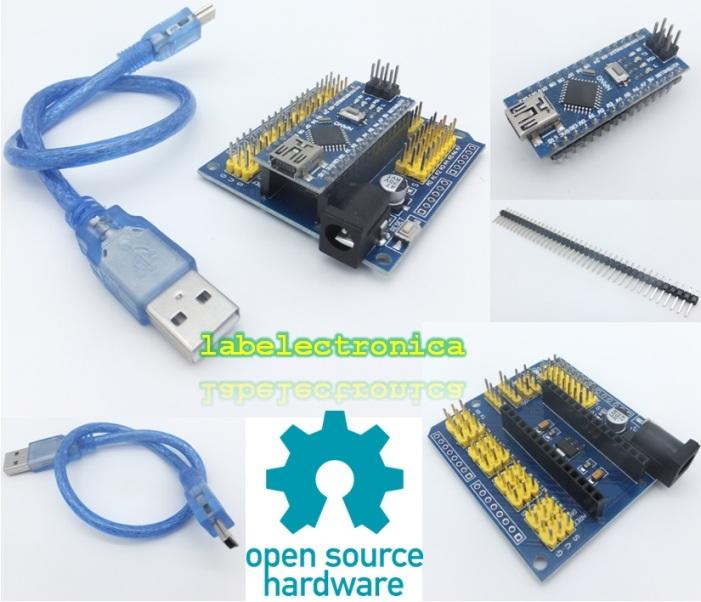 Arduino starter kit mínimo nano cables leds sensors